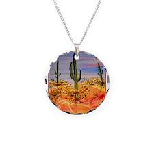 Saguaro cactus, desert art Necklace