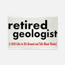 retired geologist 3 best Rectangle Magnet