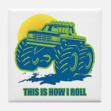How I Roll Monster Truck Tile Coaster