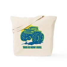 How I Roll Monster Truck Tote Bag
