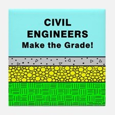 Civil Engineers Make the Grade Tile Coaster