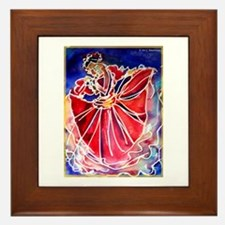 Fiesta! Colorful, Dancer! Framed Tile
