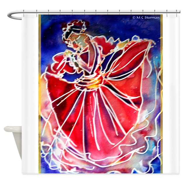 Fiesta! Colorful, Dancer! Shower Curtain By Meowries