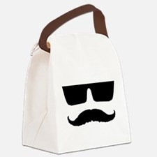 Cool mustache and glasses Canvas Lunch Bag