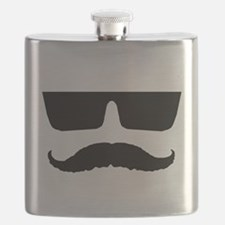 Cool mustache and glasses Flask