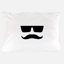 Cool mustache and glasses Pillow Case