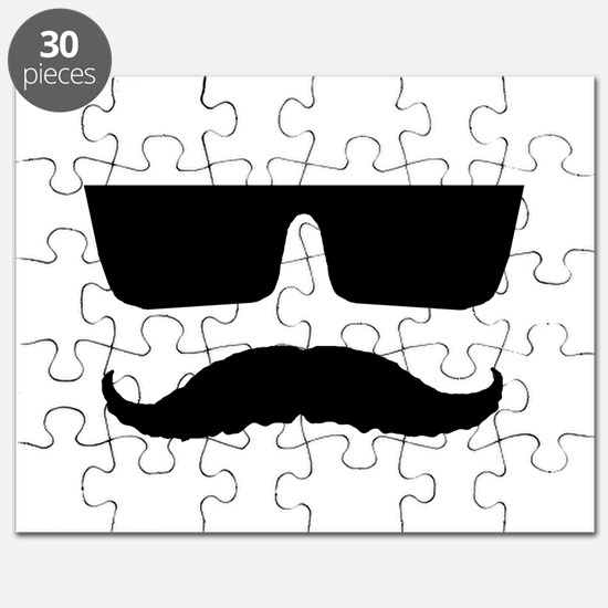 Cool mustache and glasses Puzzle