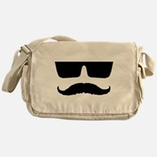 Cool mustache and glasses Messenger Bag