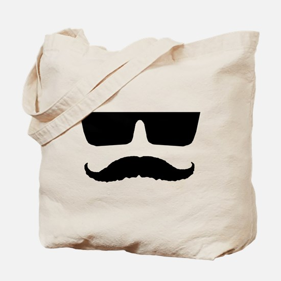 Cool mustache and glasses Tote Bag