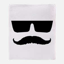 Cool mustache and glasses Throw Blanket
