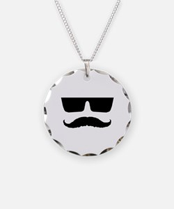 Cool mustache and glasses Necklace