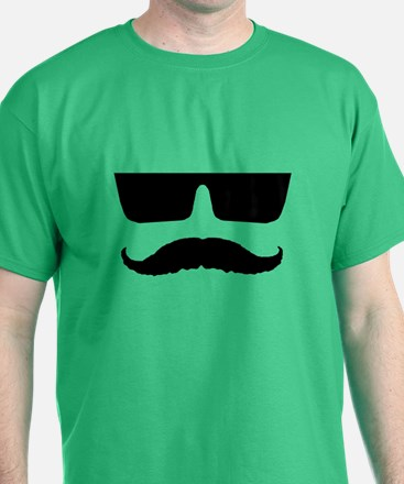 Cool mustache and glasses T-Shirt
