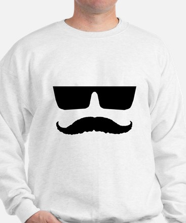 Cool mustache and glasses Sweatshirt
