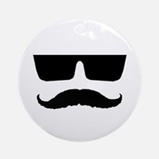 Cool mustache and glasses Ornament (Round)
