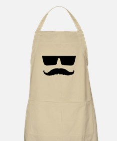 Cool mustache and glasses Apron