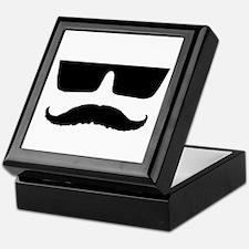 Cool mustache and glasses Keepsake Box