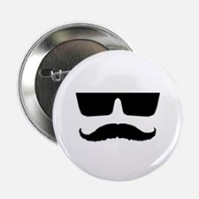 """Cool mustache and glasses 2.25"""" Button"""