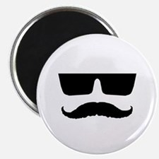 """Cool mustache and glasses 2.25"""" Magnet (10 pack)"""