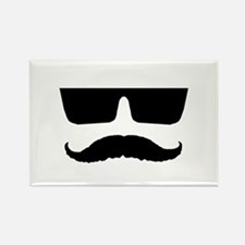 Cool mustache and glasses Rectangle Magnet