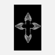 Ornate Gothic Cross Decal