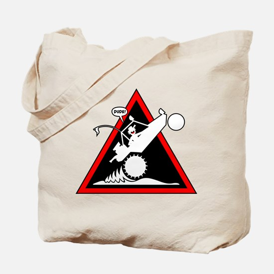 SAND RAIL Wheelie Danger Signs Tote Bag