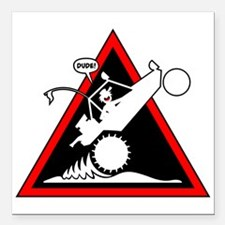 SAND RAIL Wheelie Danger Signs Square Car Magnet 3