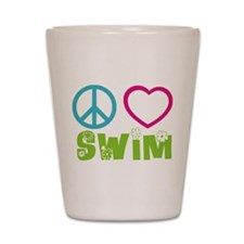 Peace Love Swim Shot Glass