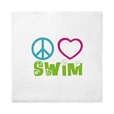 Peace Love Swim Queen Duvet