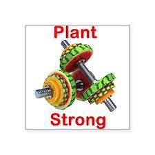 Plant Strong Fruit Dumbbells Sticker