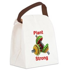 Plant Strong Fruit Dumbbells Canvas Lunch Bag