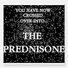"The Prednisone Square Car Magnet 3"" x 3"""