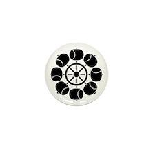 Eight ladles water wheel Mini Button