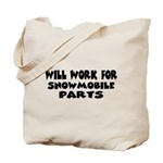 worksnowpartsw.png Tote Bag