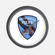 Seattle Port Police Wall Clock