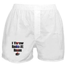I Throw Rocks at Houses Boxer Shorts