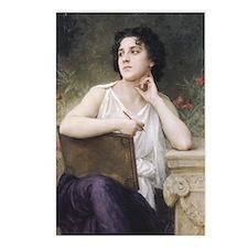 Woman Writer Classical Bouguereau Painting Postcar