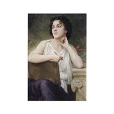 Woman Writer Classical Bouguereau Painting Rectang