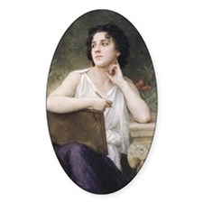 Woman Writer Classical Bouguereau Painting Decal