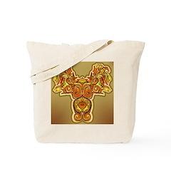 Golden Quetzalcoatl Tote Bag
