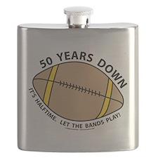 50th Birthday Football Flask