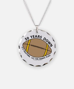 50th Birthday Football Necklace Circle Charm