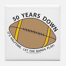 50th Birthday Football Tile Coaster