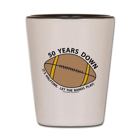 50th Birthday Football Shot Glass