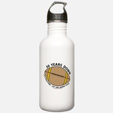 50th Birthday Football Water Bottle