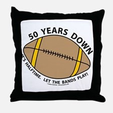 50th Birthday Football Throw Pillow