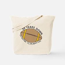 50th Birthday Football Tote Bag
