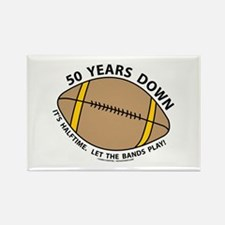 50th Birthday Football Rectangle Magnet