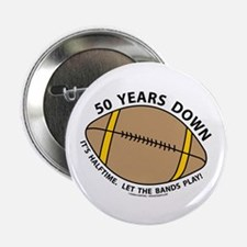 """50th Birthday Football 2.25"""" Button (100 pack)"""