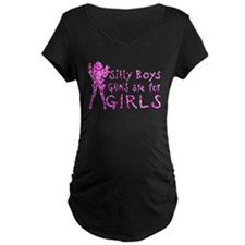 GUNS AND GIRLS Maternity T-Shirt