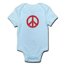 Flannel Peace Sign Body Suit